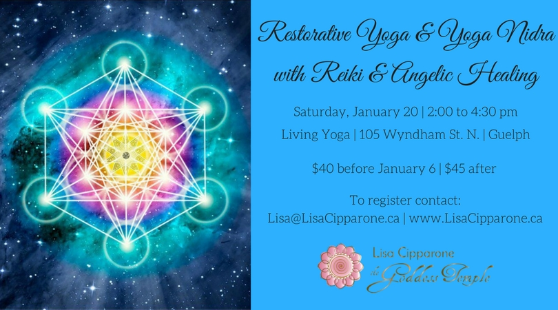 Restorative Yoga with Yoga Nidra, Reiki & Angelic Healing